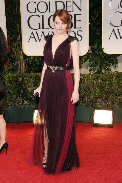 En 2012, muchas famosas estuvieron en el lista de las mejores vestidas,...