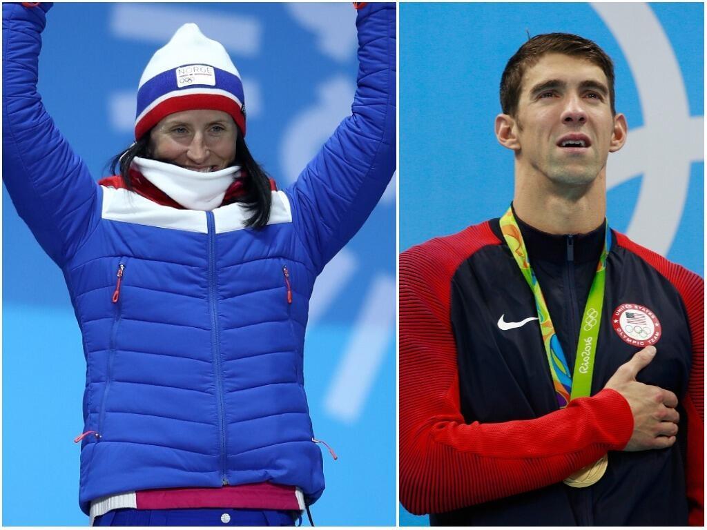 Marit Bjoergen se convirtió en la 'Michael Phelps' de los Juegos Olímpic...