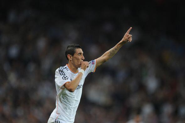 El propio Di María igualó a Cristiano como anotadores de dobletes.