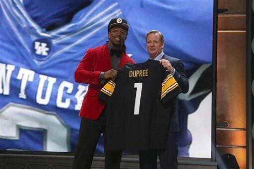El siguiente pick fue de los Steelers, que adicionaron a su equipo al OL...