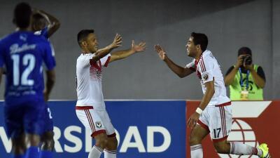 Miguel Aguilar celebra su gol con D.C. United