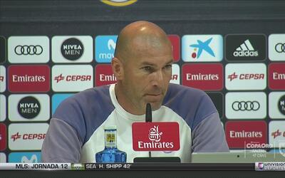 """Zinedine Zidane: """"Dependemos de nosotros y no miro ni al rival ni a nadie"""""""