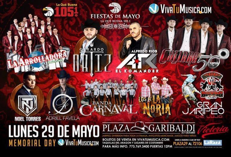 Este lunes 29 de mayo son las Fiesta de Mayo de La Que Buena 105.1 no te...