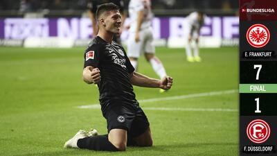 Jovic, anota cinco goles fulmina al Fortuna Düsseldorf