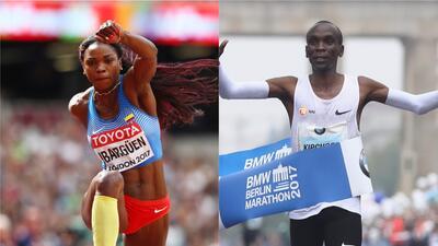 Caterine Ibargüen y Eliud Kipchoge, entre los aspirantes a Atleta del Año