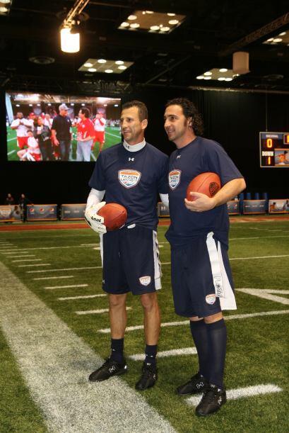 Una foto para el recuerdo de los dos deportistas latinoamericanos.