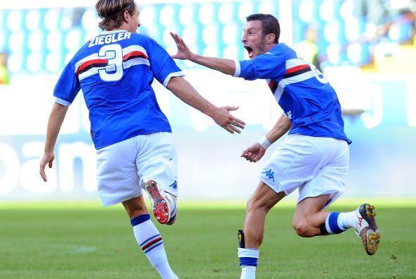 Y un minuto después el atacante Antonio Cassano marcó el t...