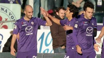 Borja Valero marcó en la goleada de la 'Fiore' ante Bolonia.