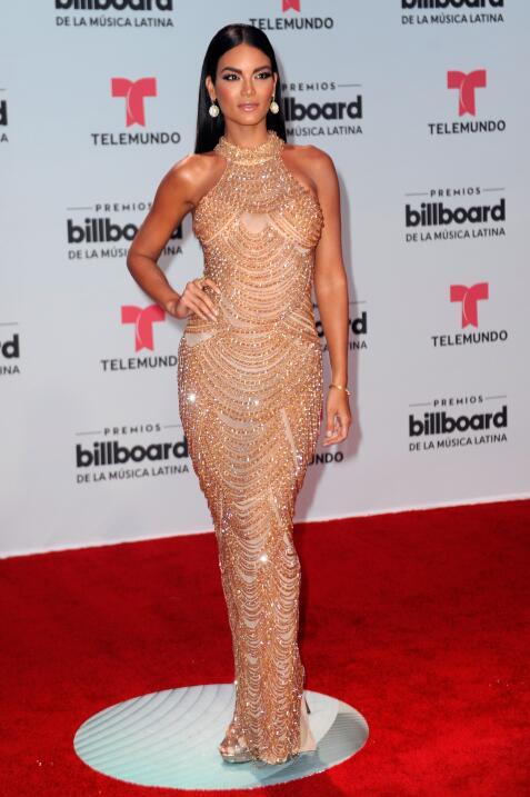 La modelo y actriz Zuleyka Rivera acudió a los Billboard de la Música La...