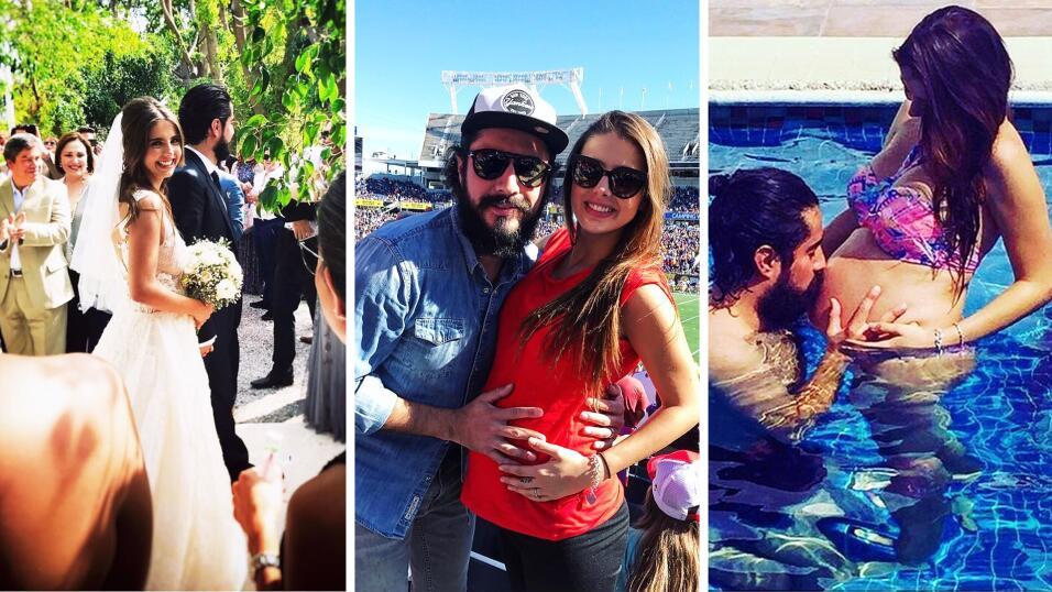 Michelle Renaud y Josué Alvarado se convirtieron en papás,...