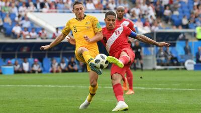 Paolo Guerrero anotó su primer gol en mundiales y el último de Perú en Rusia