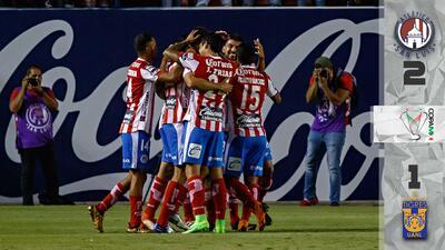 Tigres perdió en la Copa MX ante un agresivo Atlético San Luis que le dio un baile
