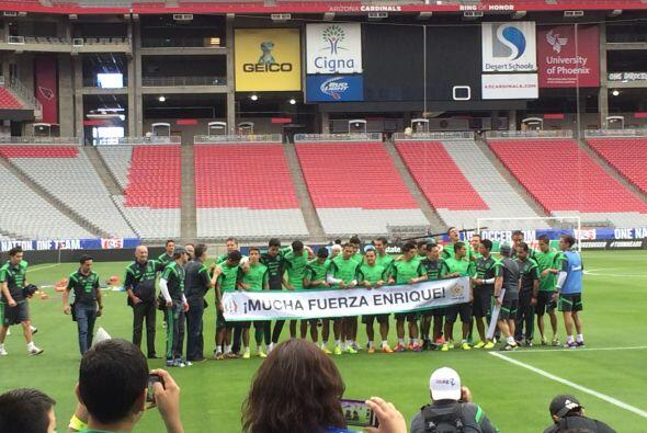 El equipo azteca aprovechó la parte posterior del entrenamiento para fin...