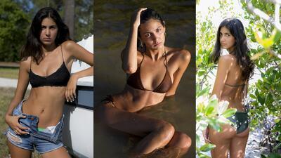 Jeunesse Awad, la espectacular fanática de los New York Knicks que seduce con su cuerpo