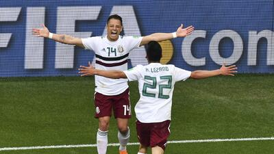 Cuatro jugadores mexicanos son protagonistas en el once ideal de la jornada en Rusia