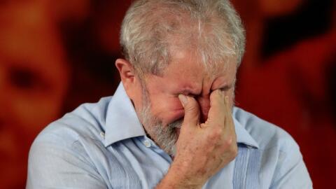 Lula participó este jueves en una reunión del PT en el que...