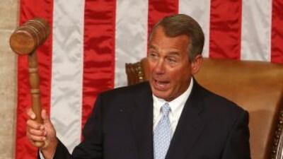 El Presidente del Congreso, John Boehner (republicano por Ohio), abre la...