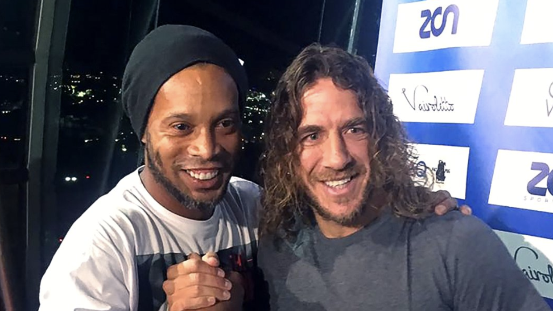 Ronaldinho y Carles Puyol en Querétaro