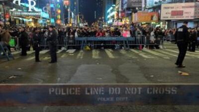 Departamento de Policía de Nueva York en Times Square.