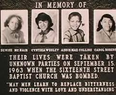 The four young girls killed during the 1963 bombing of 16th Street Bapti...