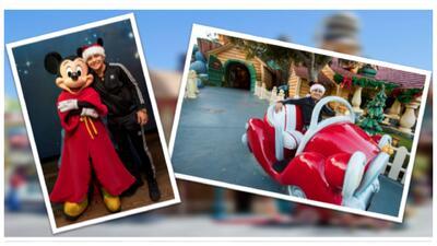 christian Nodal visitó Disney y cumple su sueño