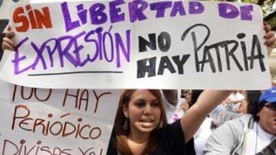 Muchas protestas por la libertad de expresión se han realizado en las ca...