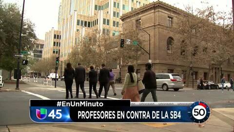 En Un Minuto Houston:  Profesores se manifiestan en contra de la propues...