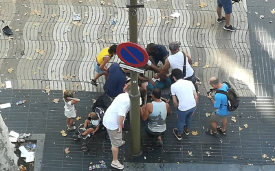 Atropello masivo en Barcelona.