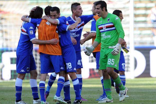 Sampdoria superó 1 a 0 al Bari y lo mandó al descenso.
