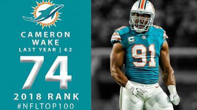 #74 Cameron Wake (DE, Dolphins) | Top 100 Jugadores NFL 2018
