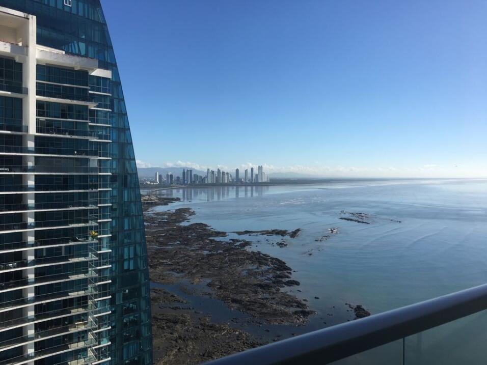 The view overlooking the Pacific coast from the 31st floor of the Trump...