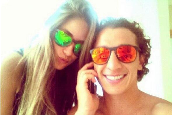 Andrés Guardado cargó esta foto que títuló: ''El príncipe y la princesa'...
