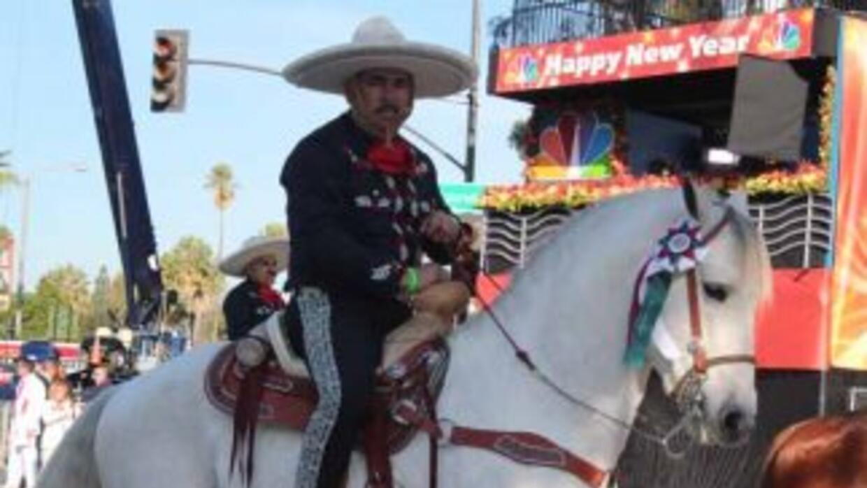 En el Desfile de las Rosas 2014 los Charros estuvieron presentes.