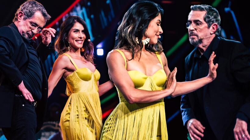 La que de se amarillo se viste: María León demostró que no solo sabe bai...