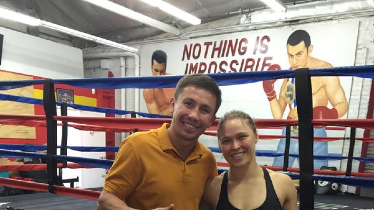 Gennady Golovkin y Ronda Rousey