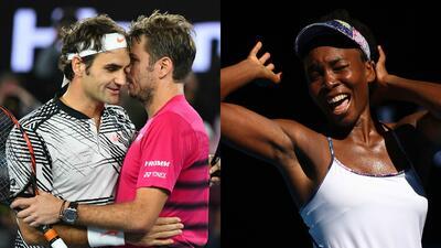 Federer y las Williams, veteranos finalistas del Australian Open