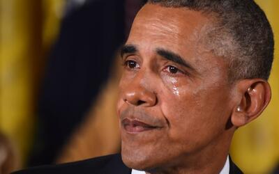 Obama se conmueve hasta las lágrimas al recordar a la matanza de Sandy Hook
