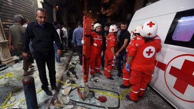 Doble atentado suicida en Burch al Barachne.