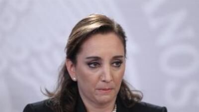Claudia Ruiz Massieu, secretaria de Relaciones Exteriores de México.