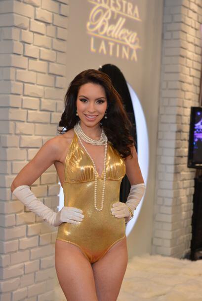 Bridget Ruiz de México, audicionó en Houston. Ella es una de bellas que...