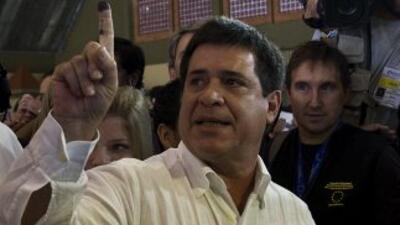 Horacio Cartes, candidato a la Presidencia de Paraguay por el Partido Co...
