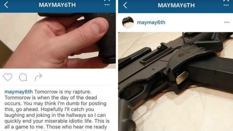 Amenaza en Instagram Jones College Prep