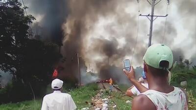 """""""Fue como cuando un pelícano se tira al mar"""", cuenta un vecino que vio caer al avión accidentado en Cuba"""