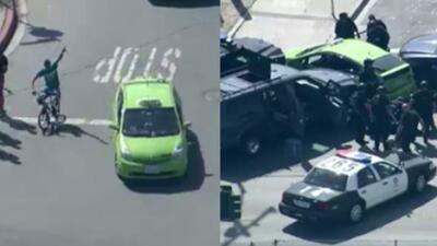 Una nueva persecución policíaca se registró en Los Angeles y el incident...