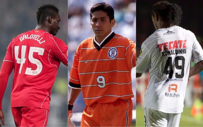 ¡Fuera de serie!: futbolistas con números de playeras curiosos y poco co...