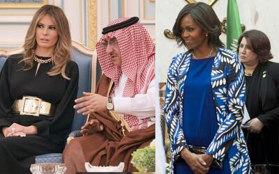 Trump atacó a Michelle Obama por visitar Arabia Saudita sin velo y su fa...