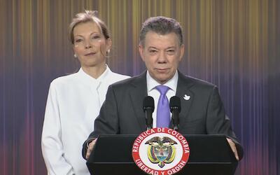 Juan Manuel Santos dedica el Nobel a todos los colombianos, en especial...