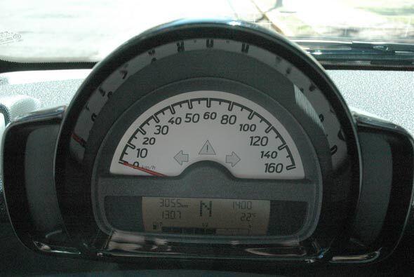 Los números del velocímetro son bastante grandes y faciles de leer.