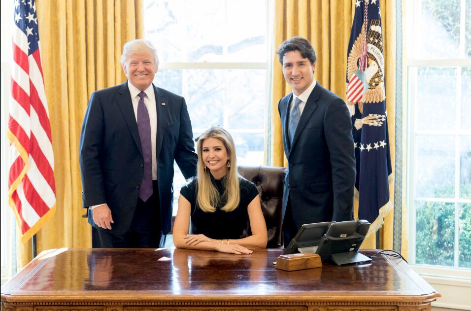 Ivanka Trudeau Ovall Office