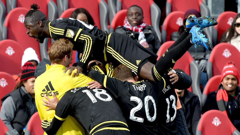 Columbus Crew SC celebra gol ante Toronto FC